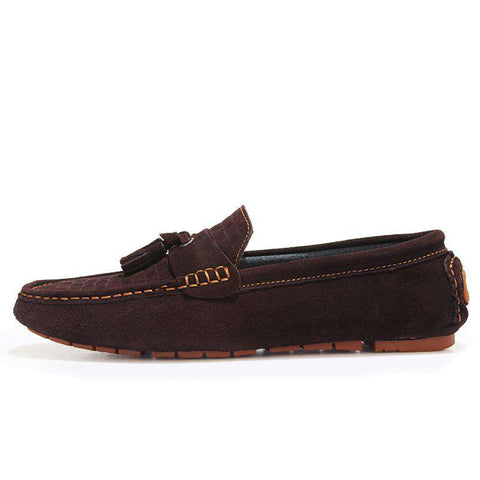 Leather Men Breathable Comfortable Loafers Luxury Flats Casual Shoes