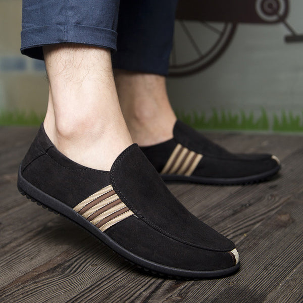 Suede Slip On Men's Breathable Casual Moccasin Shoes