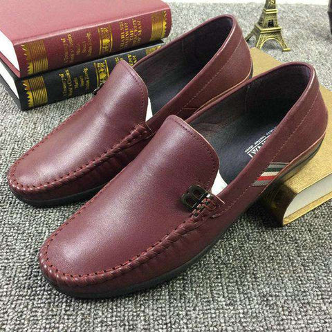 Genuine Leather Slip-On Soft Loafers