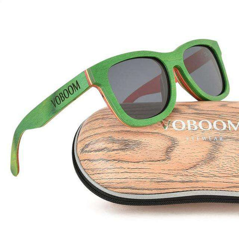 Polarized Skateboard Wooden Sunglasses UV Protection Unisex