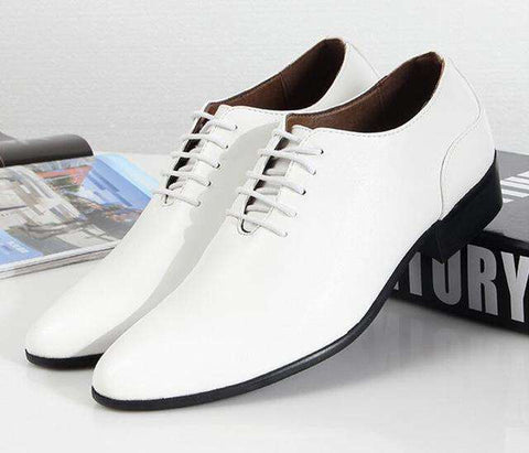 England Style Men's Pointed Dress Shoes
