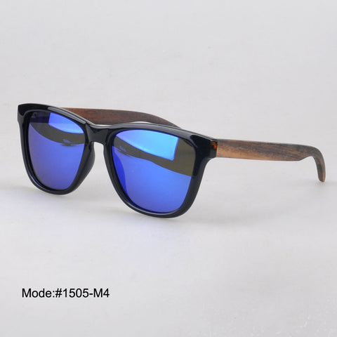 Unisex Sunglasses With Wood Temple Polarized Lens Sunshade UVB  UVA