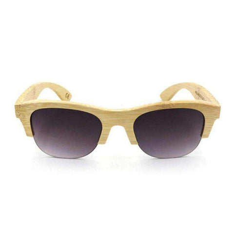 Environmental Protecting Mirror Sunglasses Wooden Frame Unisex