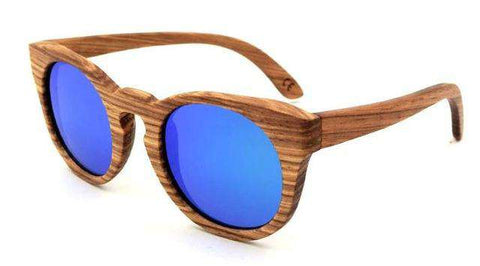 Round Frame Wooden Sunglasses Polarized Lens Unisex