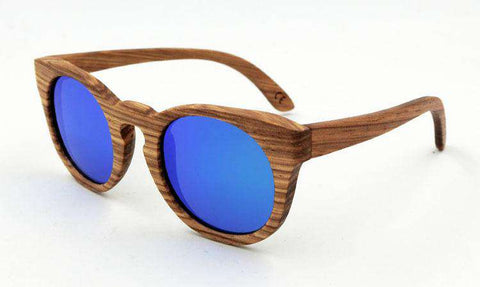 Natural Zebra Wooden TAC Polarized Sunglasses UV400 For Men