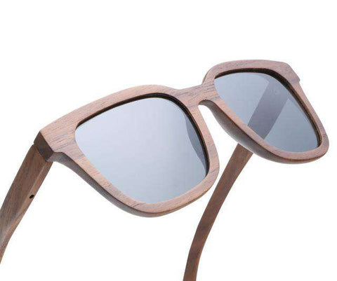 Swiss Walnut Wooden Sunglasses For Men Polarized Lens
