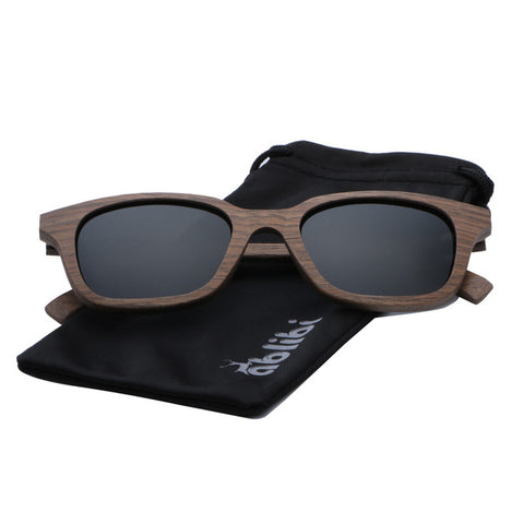 Square Frame Walnut Wood Sunglasses Handcraft Polarized Lens Unisex