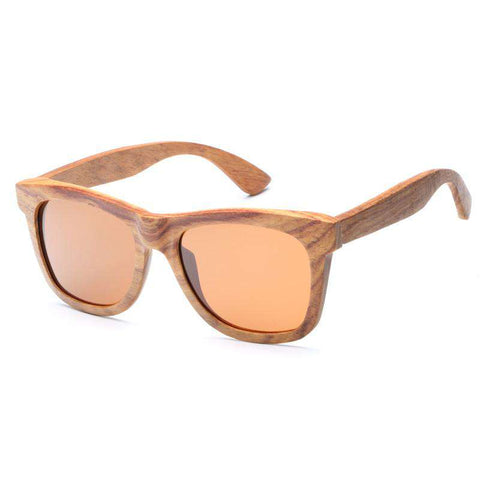 Men Handmade Wooden Sunglasses Polarized Lens Square Frame