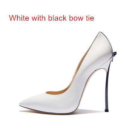97908208f224 Pointed Toe Bow Tie Thin High Heels Party Pumps ...