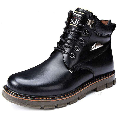 Men's Genuine Leather Height Increasing Elevator Boots