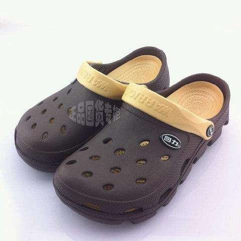 Men's Casual Hollow Out Brown Sandals Dual Use
