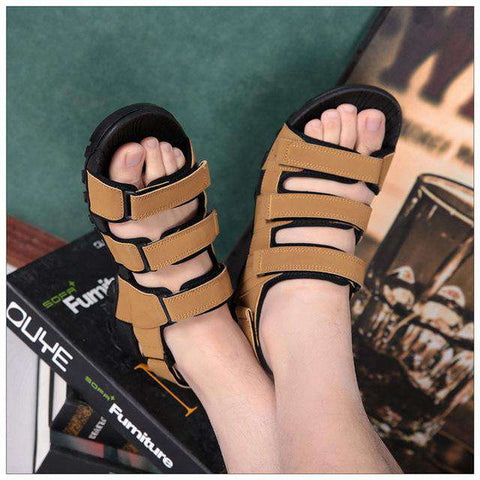 Men's Black Soft & Light Synthetic Casual Sandals