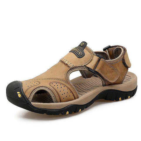 Men's Breathable Hiking Trekking Leather Sandals