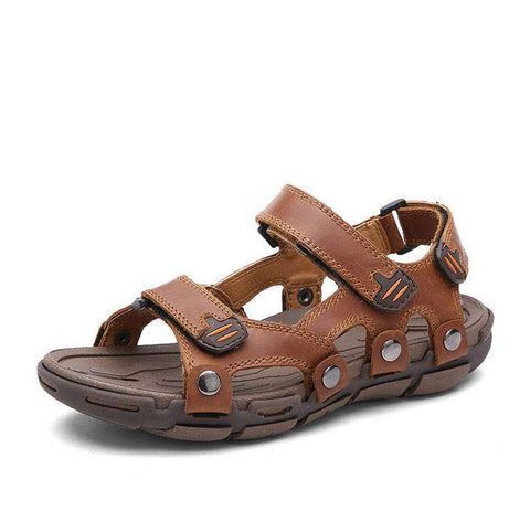 Genuine Leather Casual Breathable Beach Sandals For Men