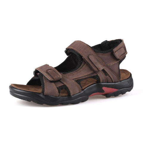 Men's Genuine Leather Casual Brown Sandal
