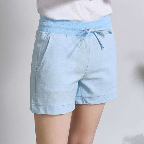 High Waist Elastic Fashion Loose Shorts