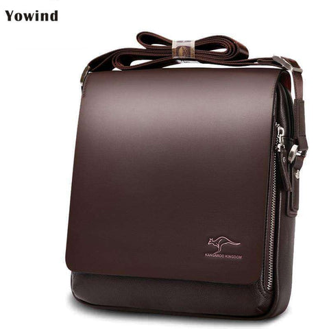 Mens Messenger Unique Buckle Design Irregular Cover Bag