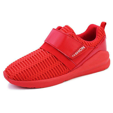 Men's Breathable Running Walking Trainer Sports Sneaker Red