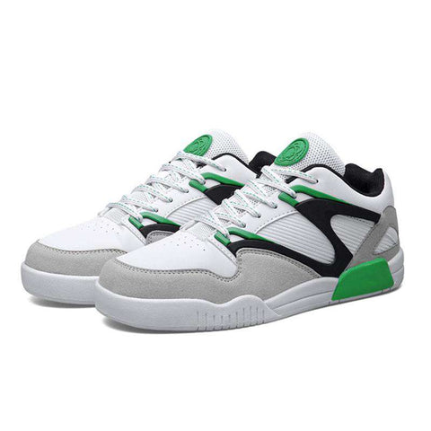 Men's Basketball Comfortable Sports Leather Jogging Sneakers White