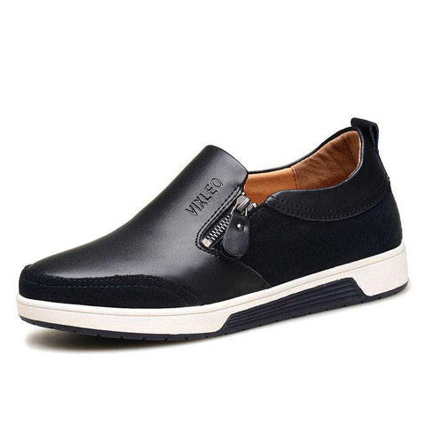 Men's Skateboarding Leather Sports Sneakers Black