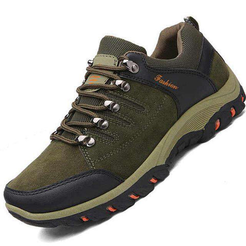 Men's Hiking Non-Slip Trekking Mountain Waterproof Sneakers Grey