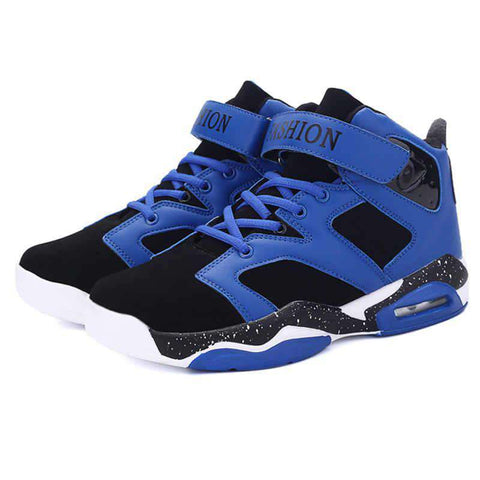Men's Air Cushion Breathable Lace-Up Basketball Sneakers