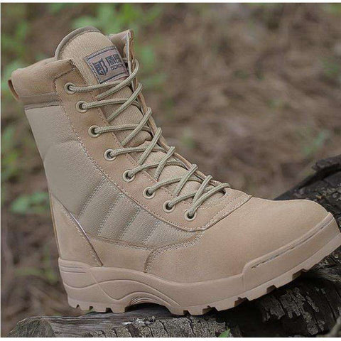 Men's Genuine Leather Tactical working Combat Boots