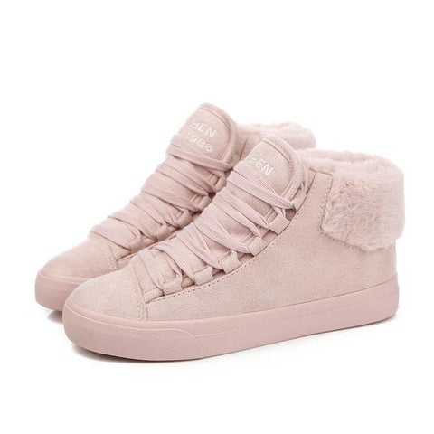 Women Plush Suede Outdoor Winter Warming Boots