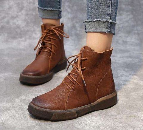 Fashion Ankle Retro Martin Boots Women
