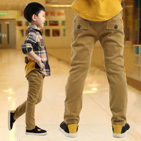 Kids casual pants velvet trousers