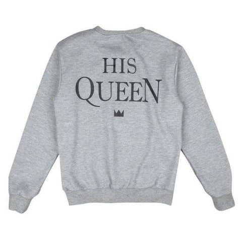 KING QUEEN Print Long Sleeve SweatShirt