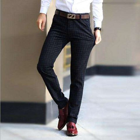 Men's Straight Formal Dress Pants