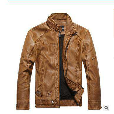 Leather Jackets Men Winter Casual Coats