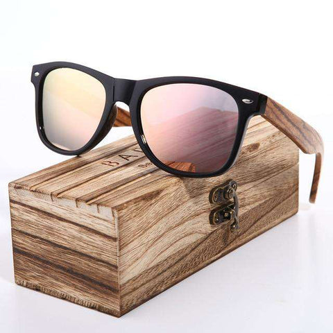 Polarized Hand Made Zebra Wood Glasses