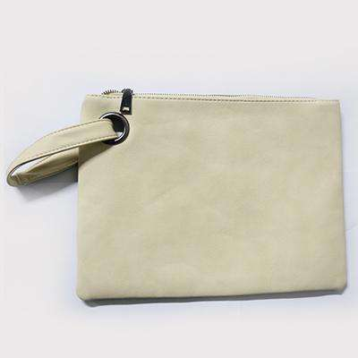 Leather Day Clutch Envelope Bag
