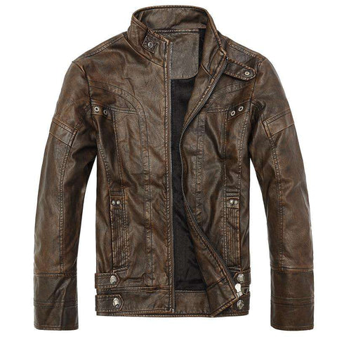 Leather Men Winter Jackets casual Coats