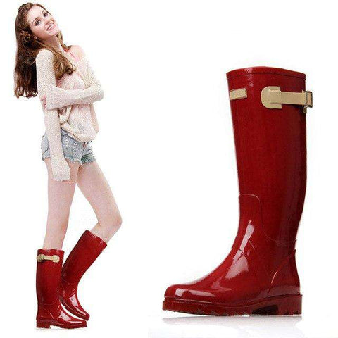 Breathable Fashion Knee High Anti-slip Rainboots Women's