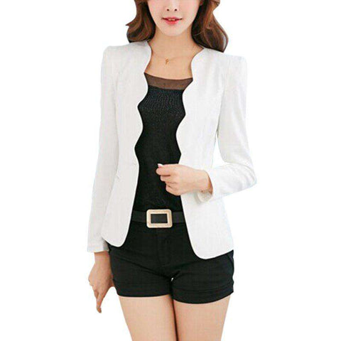 Casual Women One Button Blazer