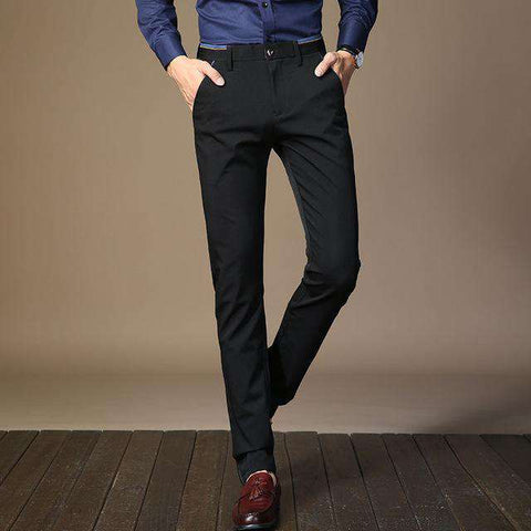 Men Slim Fit Formal Dress Pants