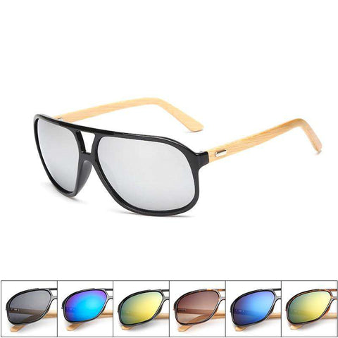 Bamboo Sunglasses Men Wood sunglasses Square Frame Unisex