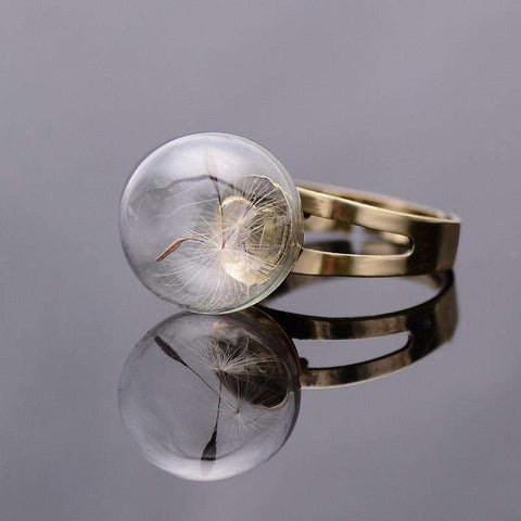 Retro Bijoux Vintage Dandelion Seeds Wish Ring