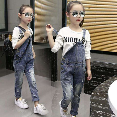 Ripped Kids Leisure Denim Jeans