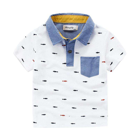 Short Sleeved Kids Cotton Polo T-Shirt
