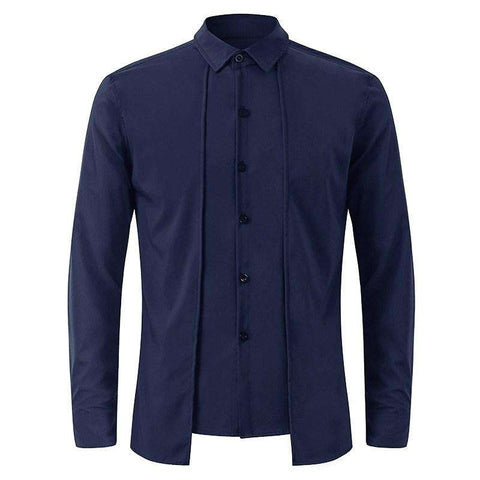 Business Cotton Casual Men's Dress Shirt with Long Sleeve