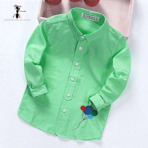 Kids Cotton Fashion New Long Sleeve Plaid Shirts