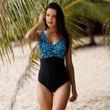Printed Casual Polyester Swimwear Jumpsuit