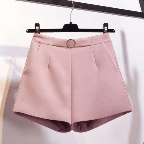 High Waist Wide Leg Trouser Casual Fashion Shorts