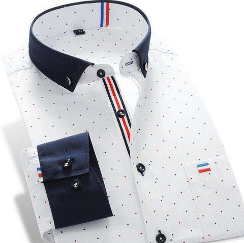 Long Sleeves Business Brand Dress Shirt Men'S