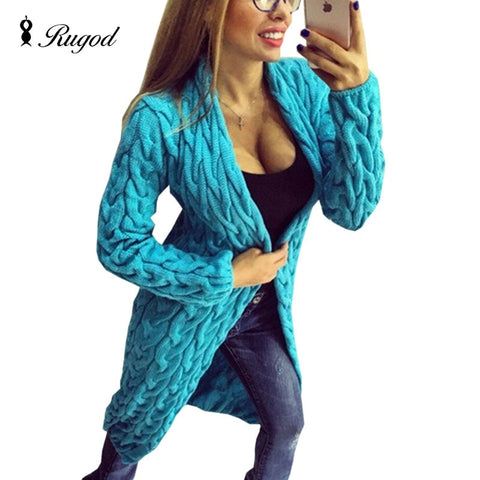 Women  Long Sleeve Knitted Sweater Cardigan