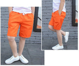 Solid Colors Casual Loose Mid Kids Shorts